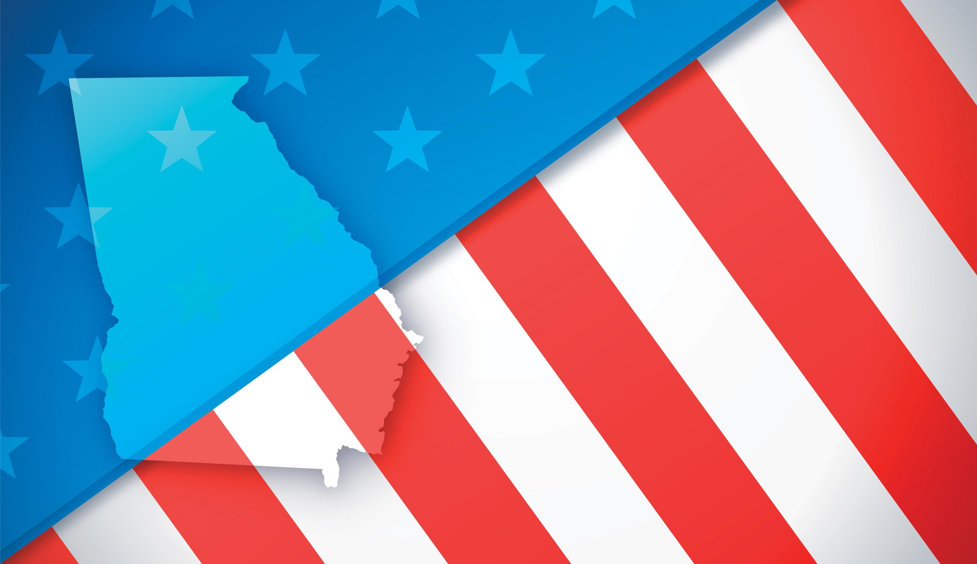 Georgia and American Flag abstract photo