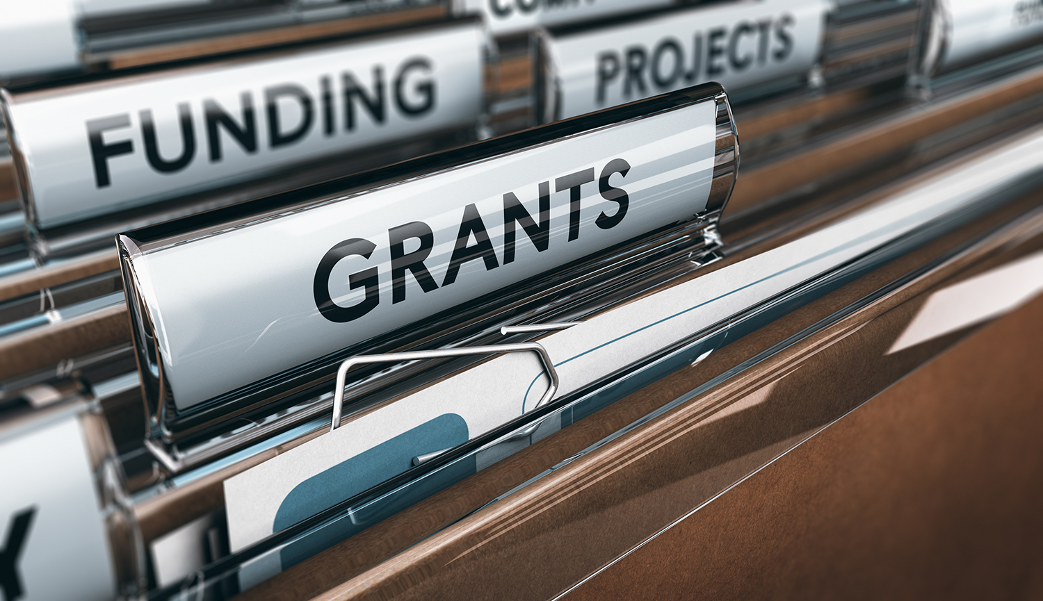 "File tabs with ""Funding,"" ""Grants,"" and ""Projects"""