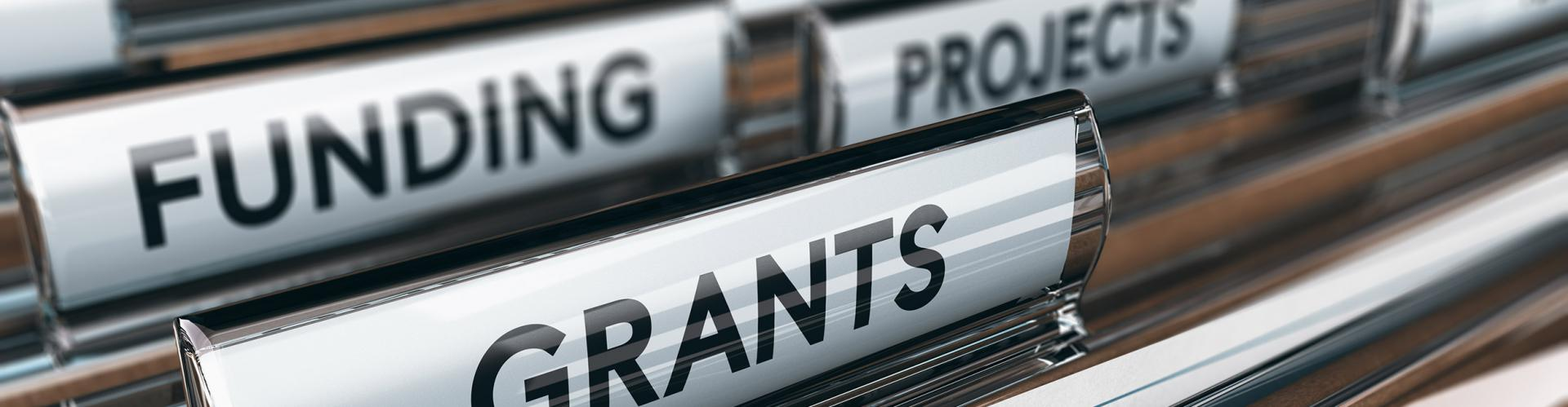 Folders labeled Funding, Projects, Grants