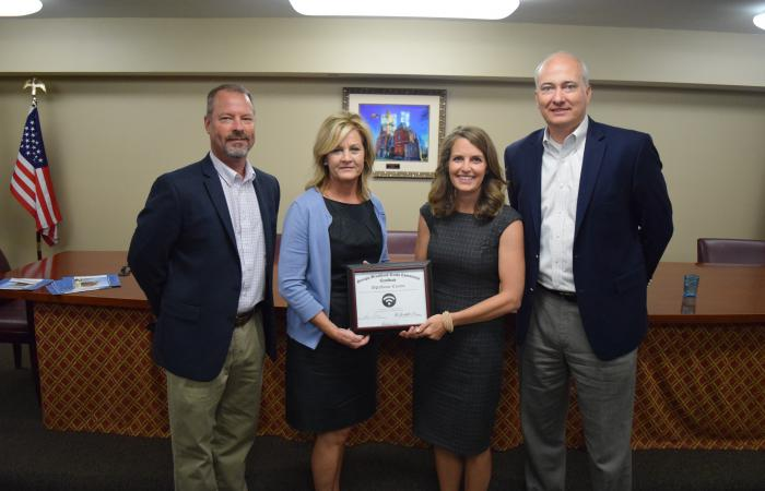 From left are Oglethorpe County Chairman Billy Pittard, Broadband Executive Director Deana Perry, Oglethorpe County Planning & Development Director Amy Stone and DCA Commissioner Christopher Nunn.