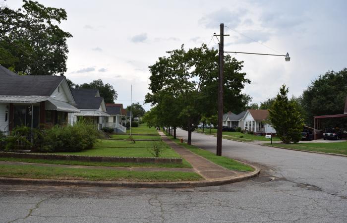 Rows of houses in neighborhood