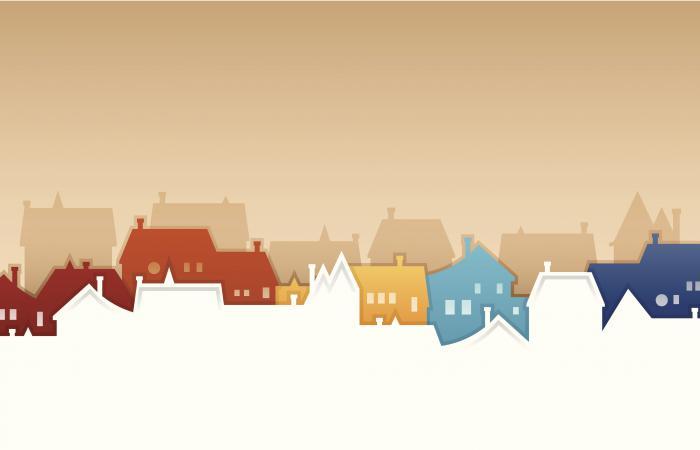 Illustration of a neighborhood
