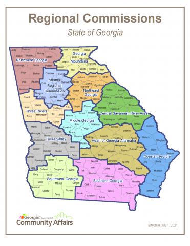 Georgia Regional Commission Map